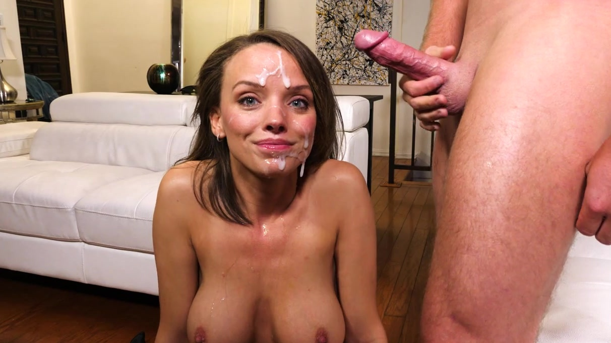 Amateur naked women with cum on them